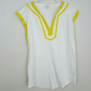 J. CREW YELLOW WHITE COVER-UP  TUNIC